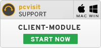 Start Client-Module pcvisit Support 15.0 for Mac and Windows